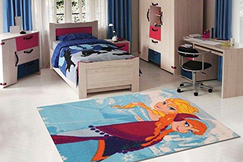 V llig unverfroren kinder teppich kinderteppich mit anna und elsa eisk nigin gr 140 x 80 - Kinderzimmer eiskonigin ...