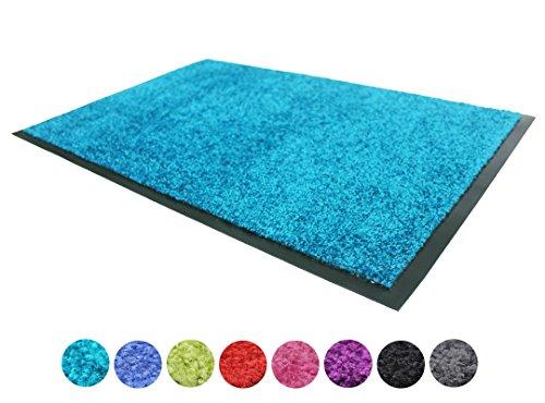 schmutzfangmatte clean t rkis 60x90cm waschbar rutschfest pflegeleichte fu matte im. Black Bedroom Furniture Sets. Home Design Ideas