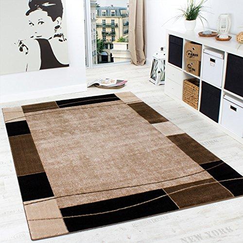 Paco Home Designer Teppich Wohnzimmer Teppich Modern Bordüre In Braun Beige  Preishammer, Grösse:120×170 Cm